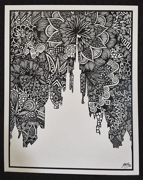 Custom Customised Personalised Mandala Doodles Back For Oneplus A zentangle the castle by designsbyblynn on etsy