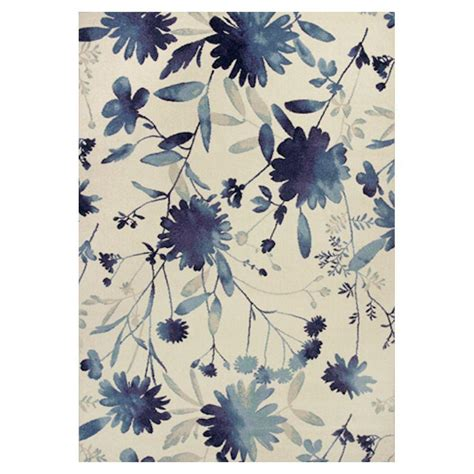 blue flower rug kas rugs flower blast blue ivory 7 ft 10 in x 11 ft 2 in area rug ref7415710x112 the home