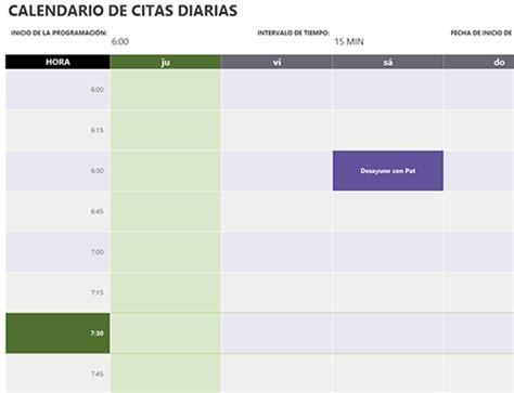 Calendario Diario Calendario De Citas Diario Office Templates