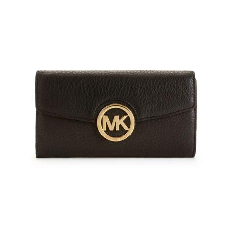 michael kors fulton carry all wallet in black lyst