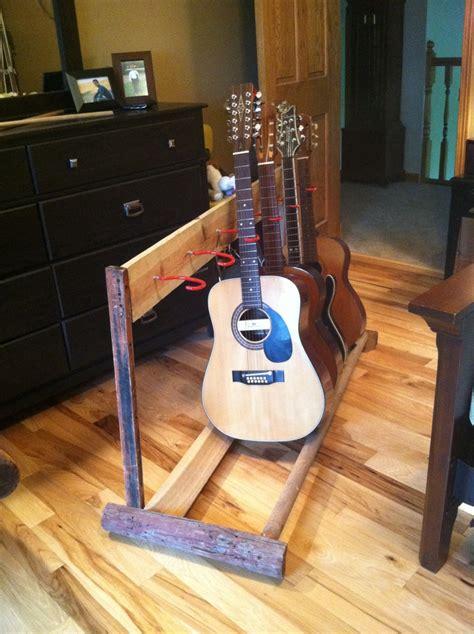 diy guitar stand diy guitar stand oldbarnwood diy and ideas
