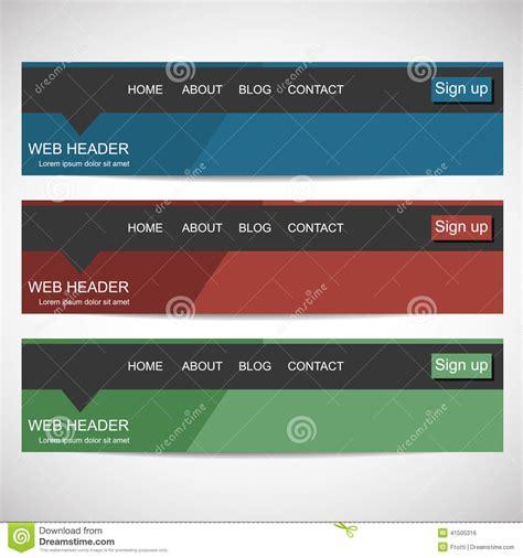 Flat Design Header Size | web header in flat design style stock vector image 41505316
