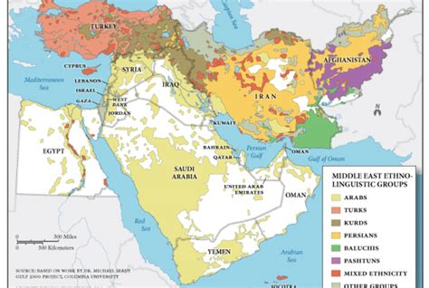 middle east map ethnic middle east ethnic