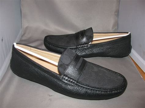 mens coach loafers new in box mens coach neal black fabric signature driving