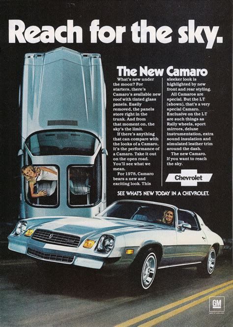 directory index chevrolet 1978 chevrolet 1978 chevrolet camaro brochure 1978 camaro ad 01