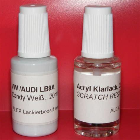Lackstift Klarlack Polieren by Lackstift Vw Audi Skoda Lb9a Candy Weiss Klarlack 2x20ml