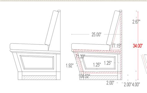 bench cad block dorset custom furniture a woodworkers photo journal a