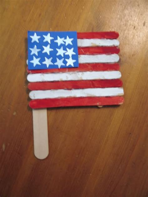 Memorial Day Craft Easy Popsicle Sticks American