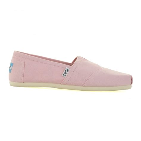 Slip On Shoes Pink toms toms womens canvas slip on shoes pink toms from loofes uk