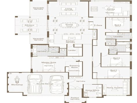 house plans with office architectural designs house plans floor home house plans with office big home floor plans