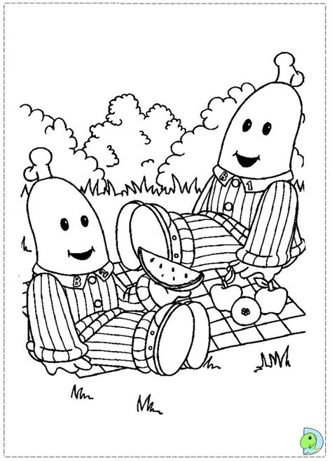 free coloring pages of bananas and pajamas