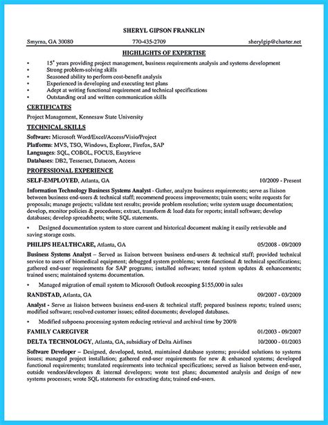 best secrets about creating effective business systems analyst resume best secrets about creating effective business systems