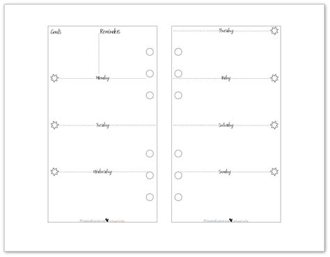 free printable planner 2016 personal size new personal size planner printables are here