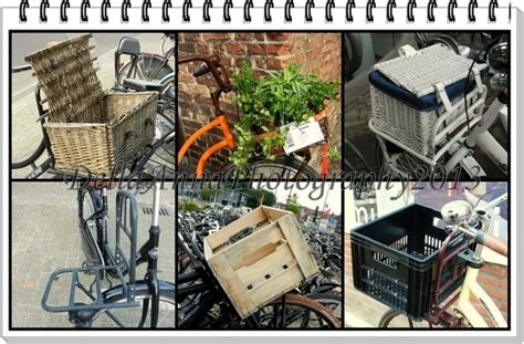 Pot Sepeda Rotan Sudah Dengan Bunga keranjang sepeda unik dan cantik oleh della