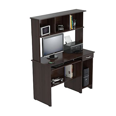 inval computer desk with hutch inval computer workcenter with hutch wengue by