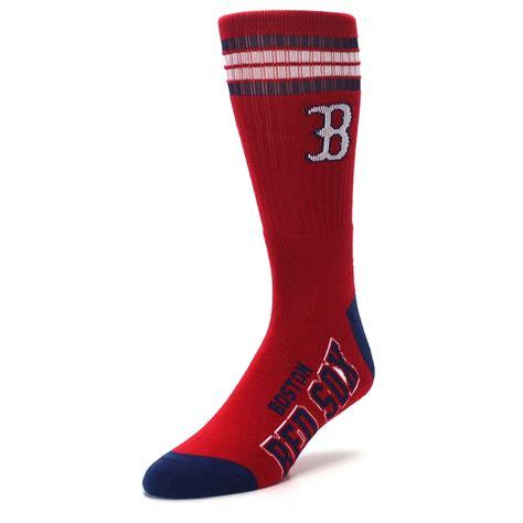 boston red sox mens athletic crew socks boldsocks
