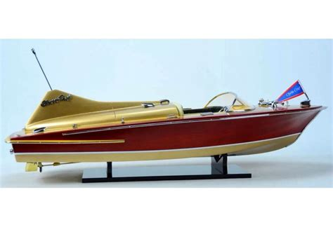 speed boat models chris craft cobra 27 quot wooden classic speed boat model