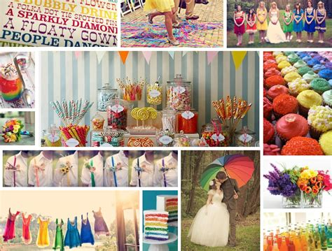 rainbow themed wedding decorations events by tammy 2013 wedding trend 1 rainbow theme