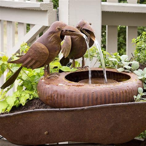 folk art crows fountain northwest nature shop