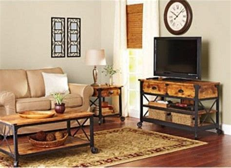country style living room set tv stand coffee table end