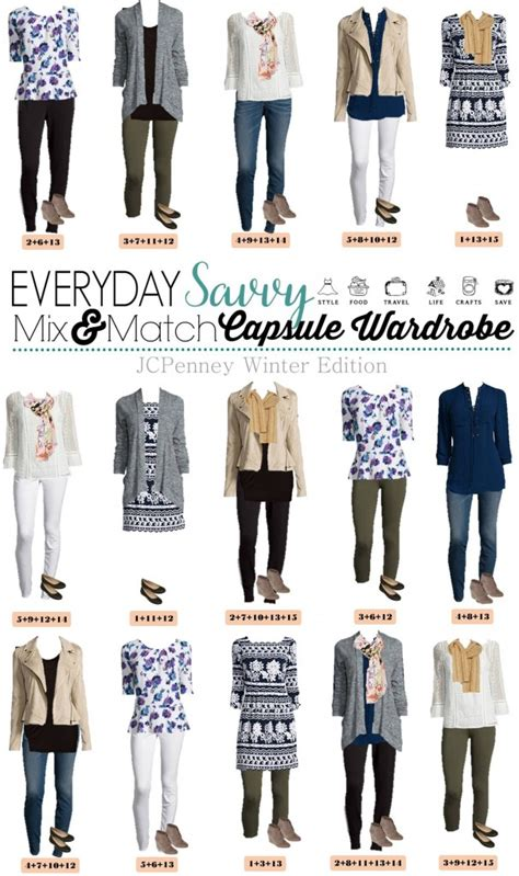 2016 wardrobe capsule for women jcpenney capsule wardrobe winter mix match outfits