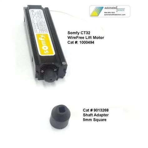 somfy motor parts automated shade store somfy 9013268 lift shaft adapter