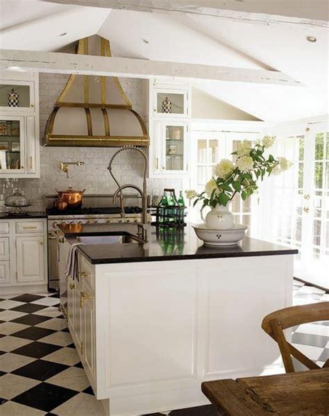 cuisine blanche sol noir agr 233 able cuisine blanche sol noir 1 le carrelage damier