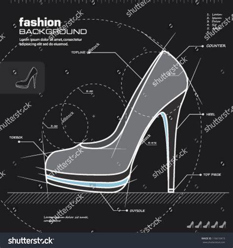 fashion house shoes shoe design woman shoes vector fashion design background vector illustration