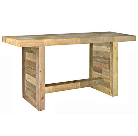 bar height wood dining table reclaimed wood dining room table kitchen tables zin home
