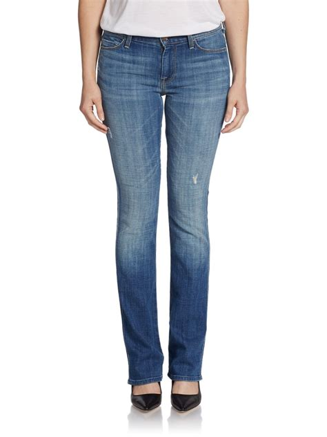 womens bootcut jeans 06 womens jeans tall skinny stretch cute lyst 7 for all mankind skinny bootcut jeans in blue