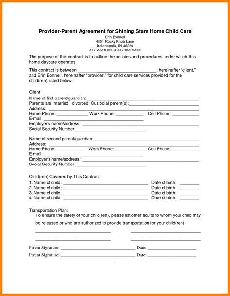 daycare contract template 8 daycare contract templates mail clerked