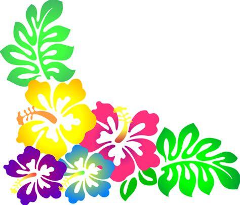 printable luau flowers free vector graphic flower hawaii hibiscus luau free