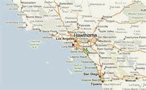 hawthorne california map hawthorne location guide