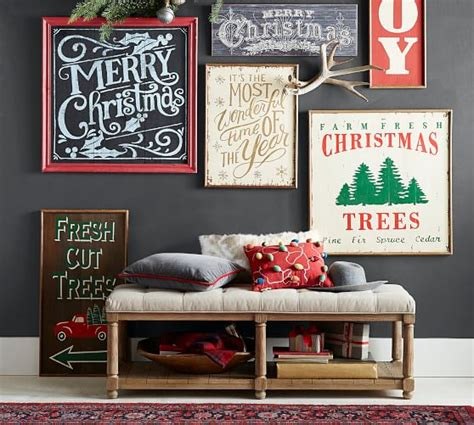 merry christmas chaulk board pottery barn merry chalkboard sign wall pottery barn
