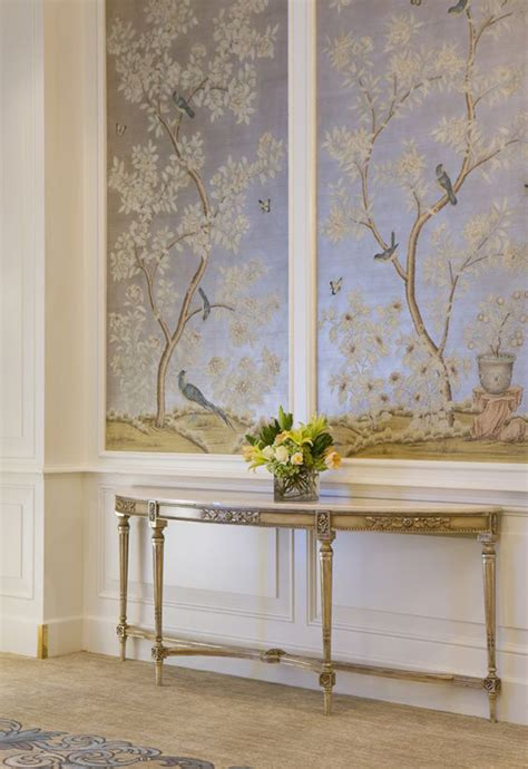 painted wall paneling hand painted chinoiserie wall panels this is glamorous