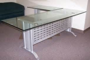 glass l shaped desks glass office desk l shape homefurniture org