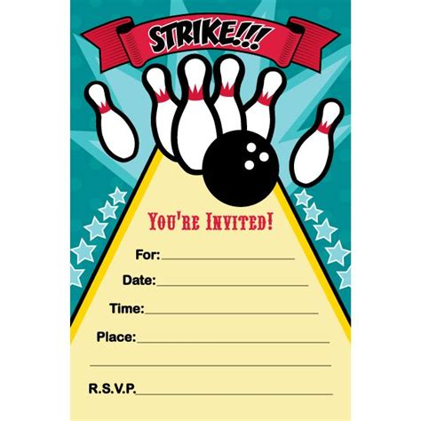 Bowling Birthday Card Template by 7 Best Bowling 12 Images On Birthdays