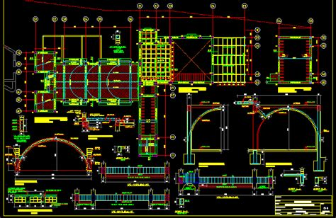 roof type shell dwg full project  autocad designs cad