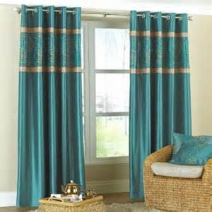 Gold And Teal Curtains 66 X 72 Faux Silk Teal Gold Medallion Ring Top Embroidered Lined Curtains
