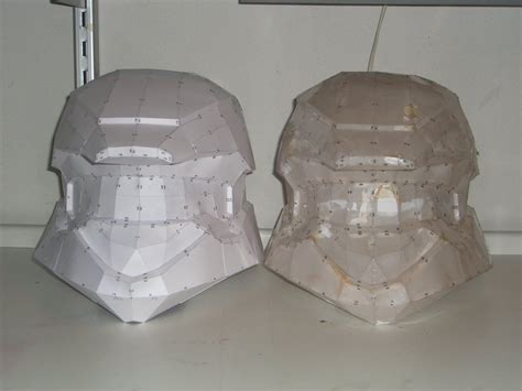 How To Make A Paper Halo Helmet - halo 3 scout paper helmet by shedg on deviantart