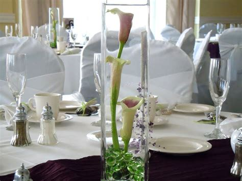 wedding centerpieces with calla lilies dodge the florist wedding flowers and andy s purple and green ceremony and reception