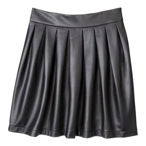 xhilaration 174 juniors faux leather skirt black target