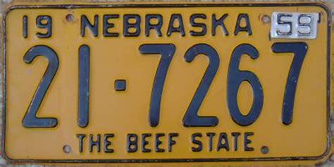Nebraska The 37th State by Rick Kretschmer S License Plate Archives 1959 U S
