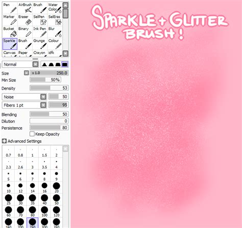 Sparkle And Glitter Sai Brush By Criminais On Deviantart