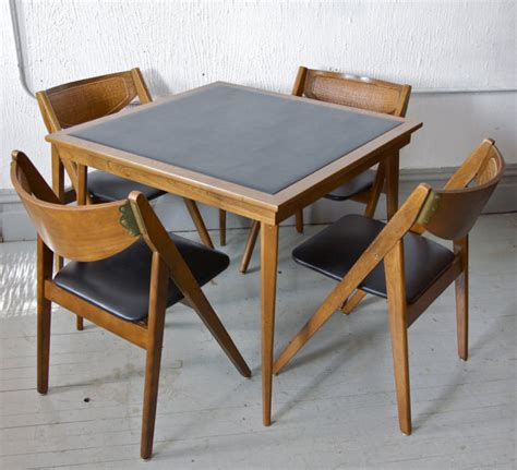 Folding Card Table And Chairs Sold Vintage Mid Century Modern Stakmore Folding Chairs And Card Table Via Etsy Chairs