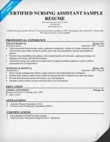 certified nursing assistant resume exles resume