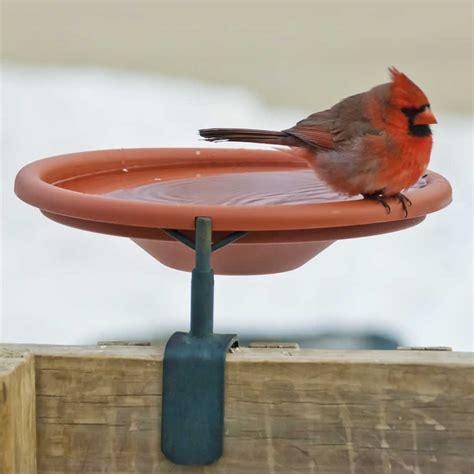 deck mounted bird bath bird cages