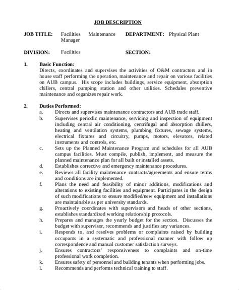 plant manager job description logistics job description