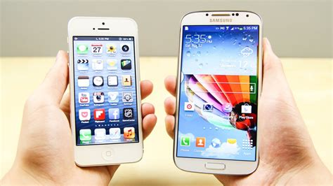 samsung phone and samsung galaxy s4 vs apple iphone 5