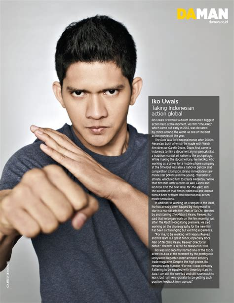 info film iko uwais da man hot list 2013 iko uwais da man magazine